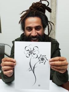 Beirute - Lição de Caligrafia Árabe por Hicham Chajai