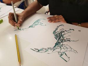 Dubai - Palestra de Caligrafia Árabe por Hicham Chajai