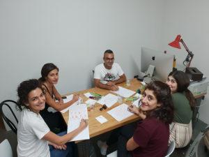 Beirute - Classe de Caligrafia Árabe por Hicham Chajai